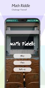Math Riddles | Math Puzzles and Math Riddles Game Screenshot