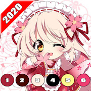 Anime Coloring by Number - Anime Coloring Book