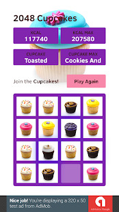 2048 Cupcakes Screenshot