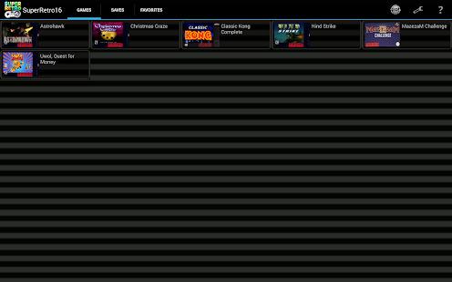 SuperRetro16 SNES Emulator Screenshot