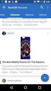 RealGM Forum Screenshot