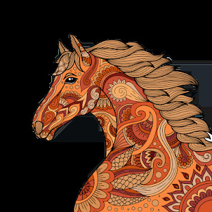 horse coloring pages - Free Large Images | 310x310
