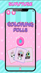 Coloring Dolls Surprise Screenshot
