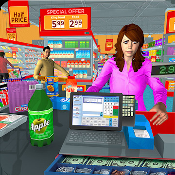 Supermarket Grocery Shopping Mall Family Game