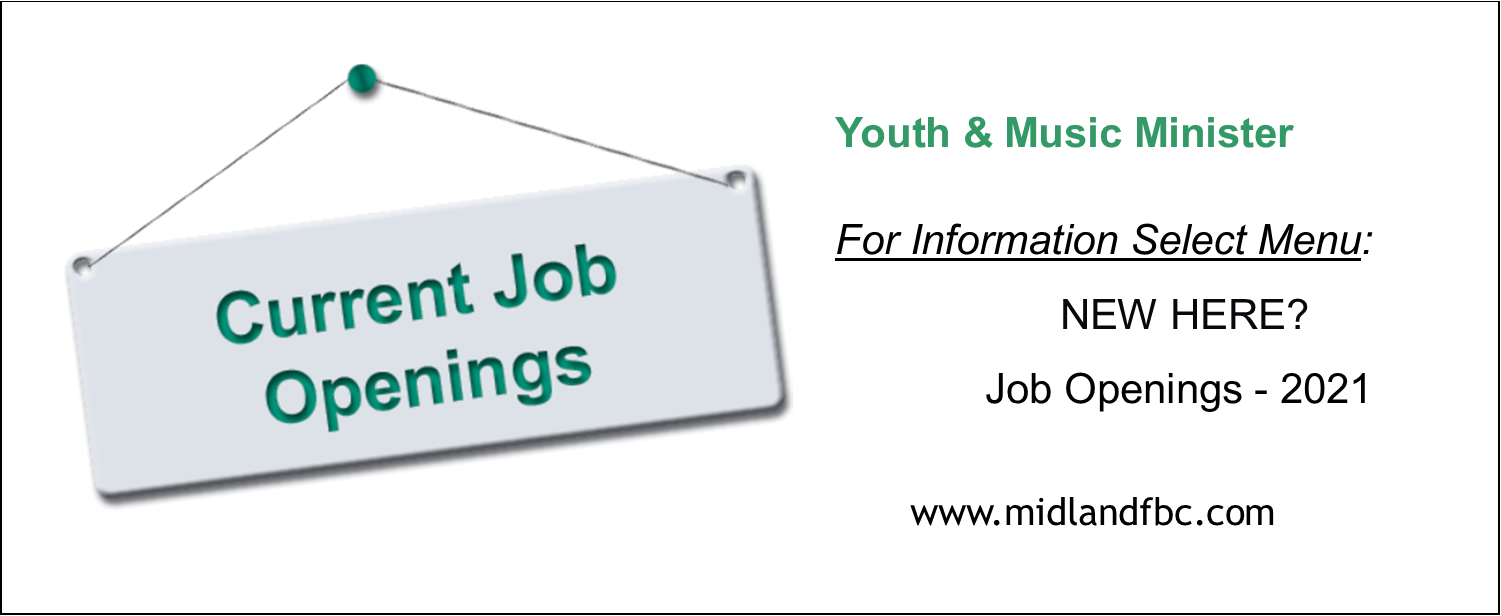 Job Description - 2021 Youth & Worship Minister