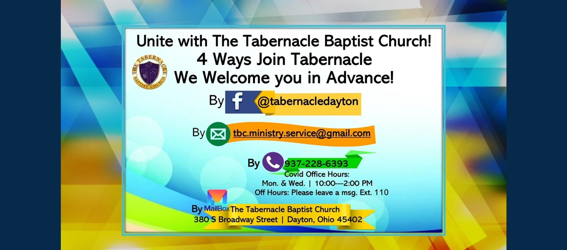 4 Ways To Join Tabernacle