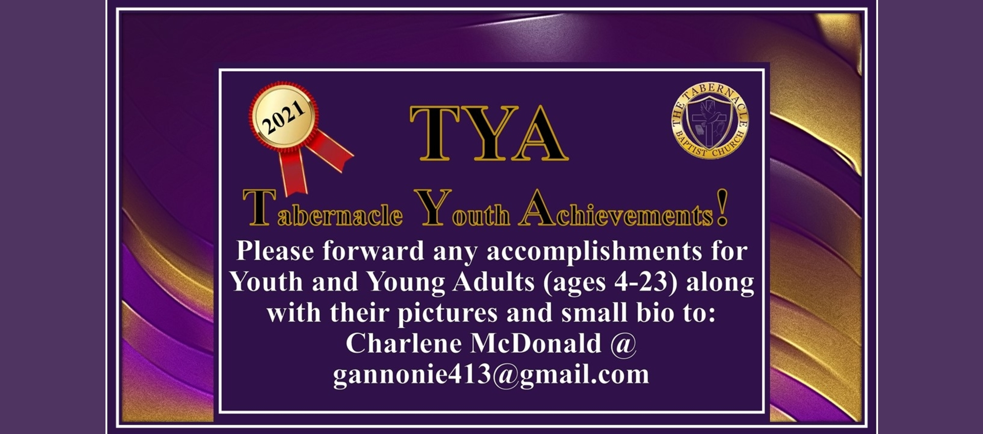 Tabernacle Youth Achievements!