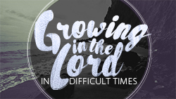 Growing in the Lord in Difficult Times