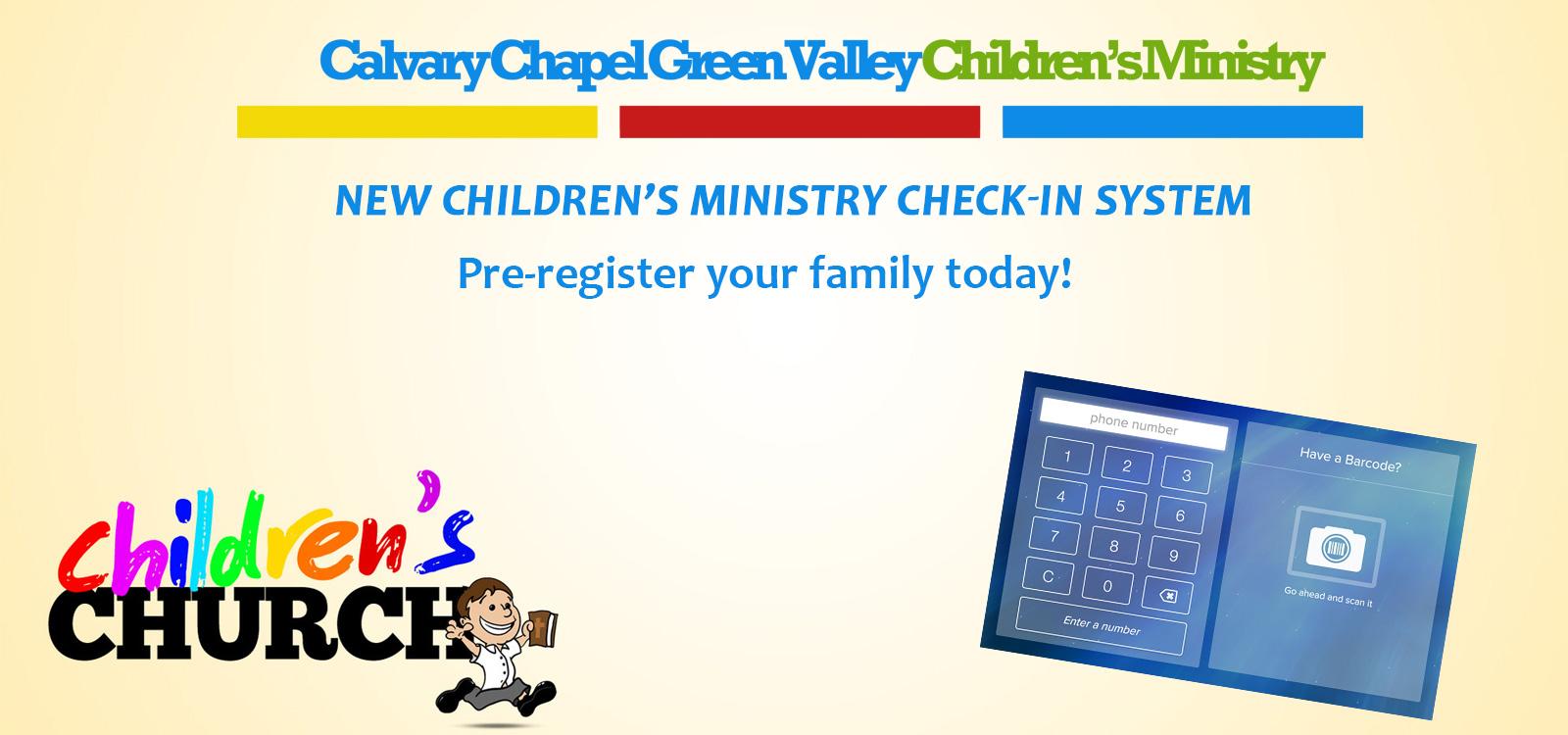 childrens ministry check-in