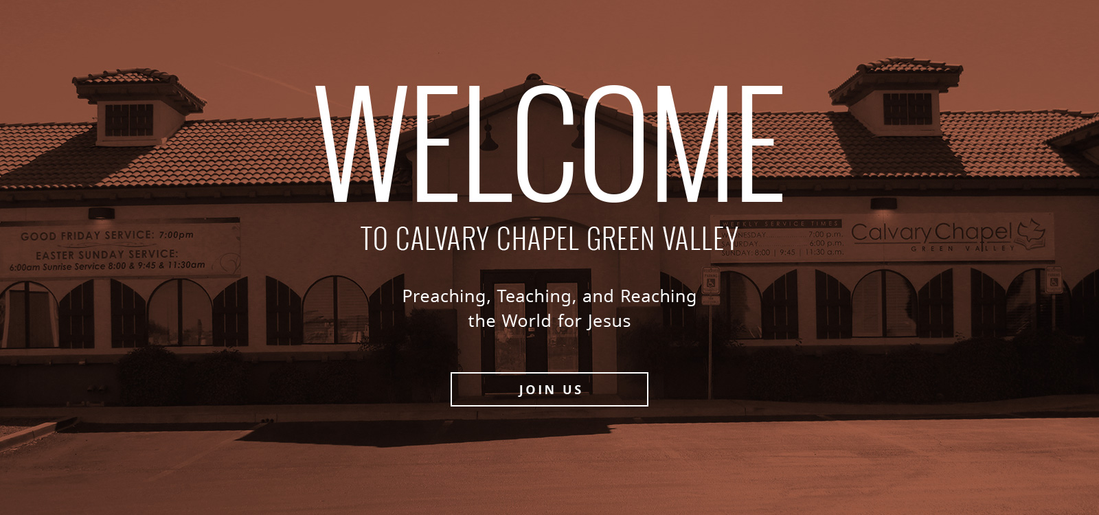 Are the Calvary Chapel live services televised?