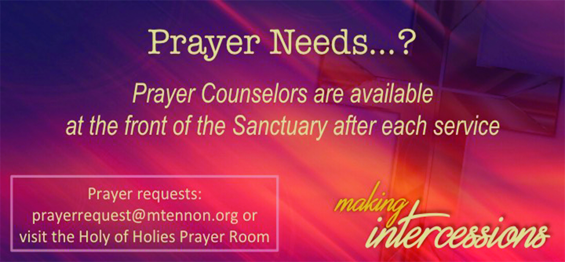 Prayer Needs