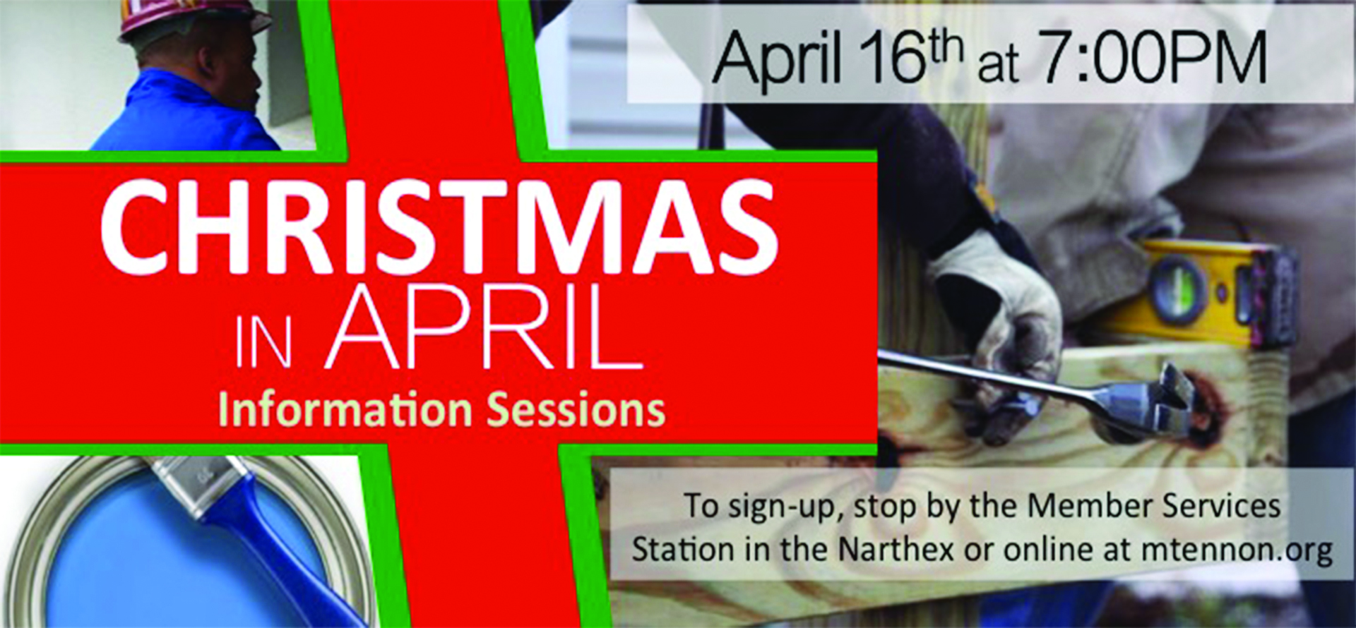 Christmas in April  - Information Session