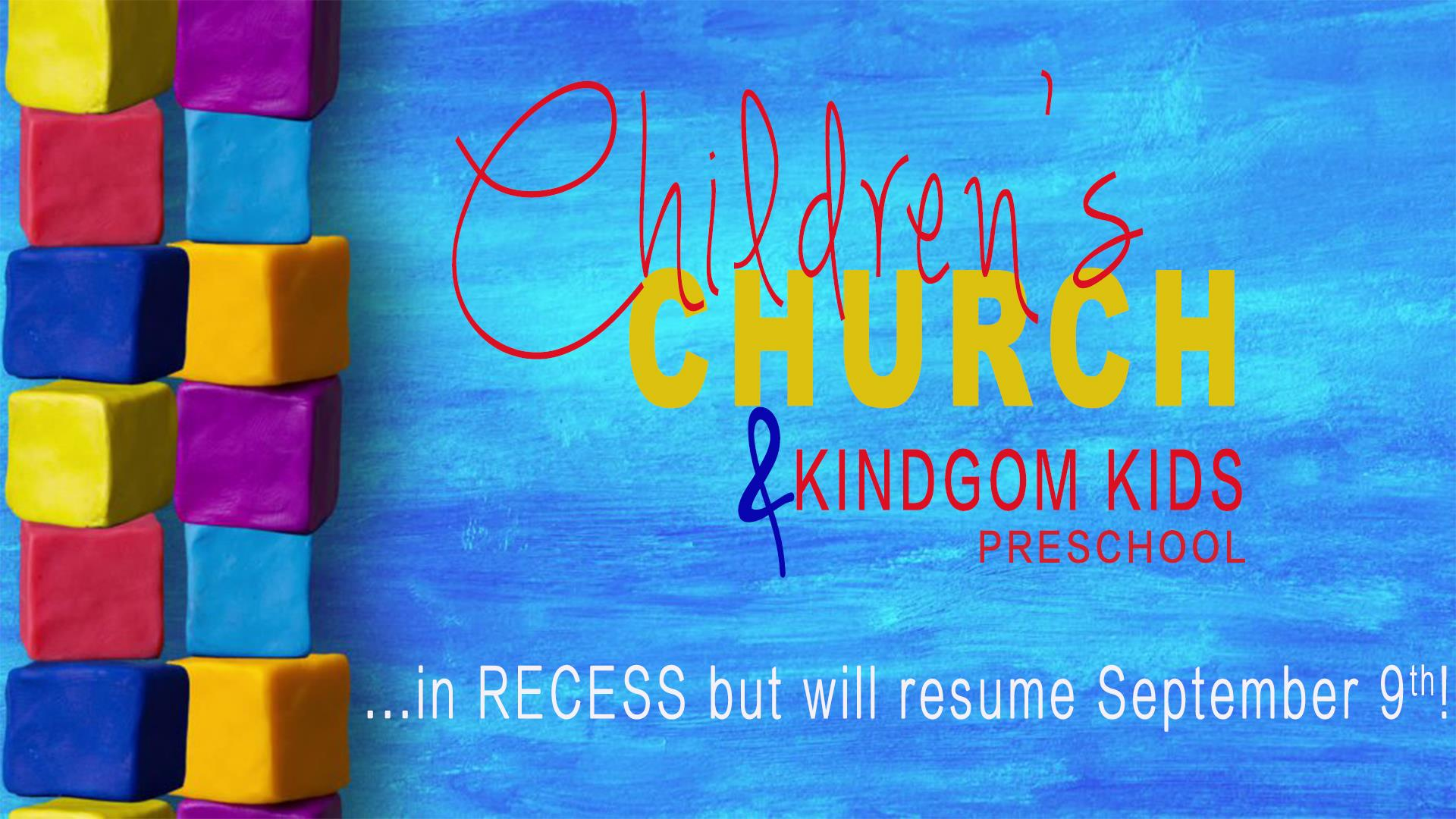 Children's Church and Preschool in Recess - Resume