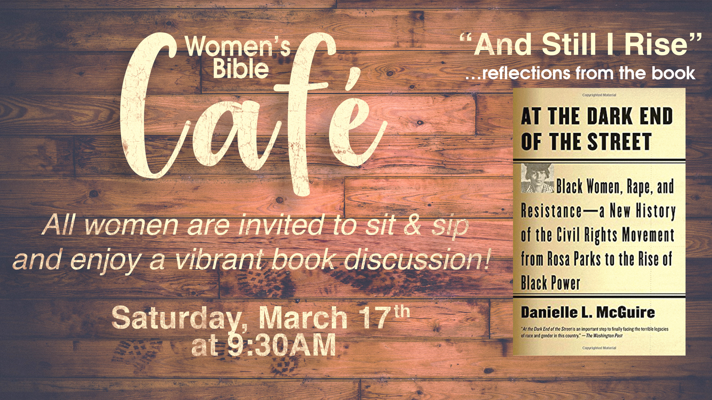Women's Bible Cafe Book Discussion