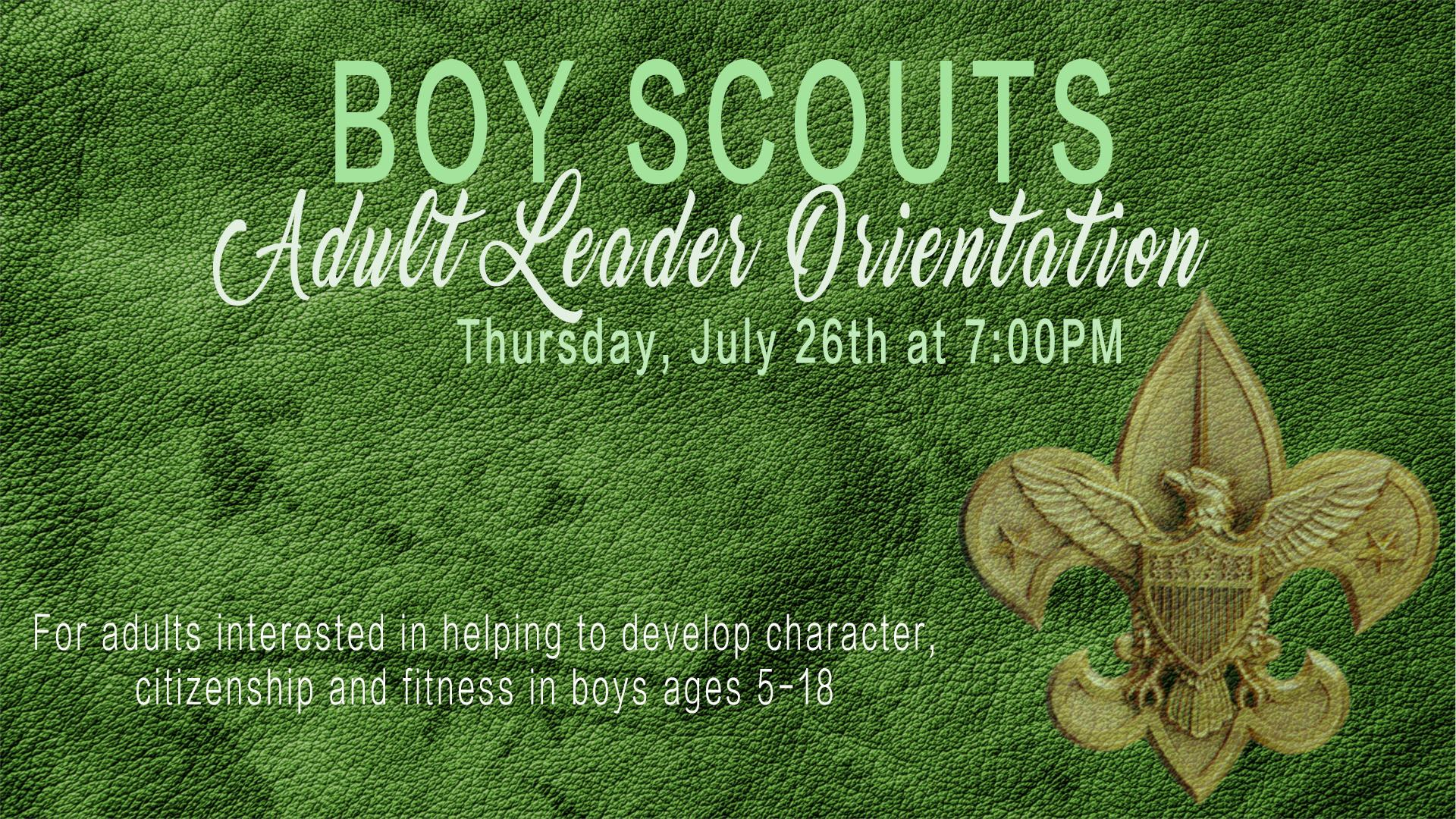 Boy Scouts Adult Leader Orientation