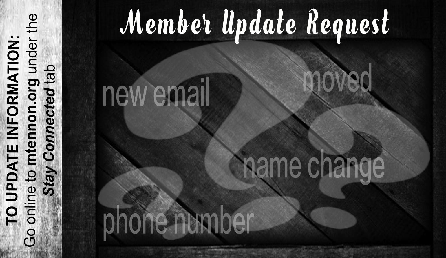 Member Information Update Request