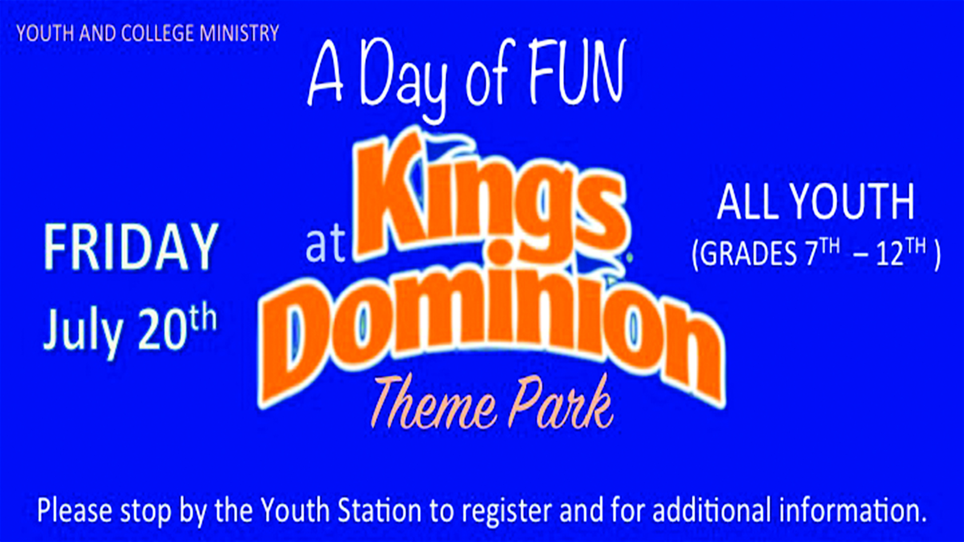 Youth Trip to Kings Dominion