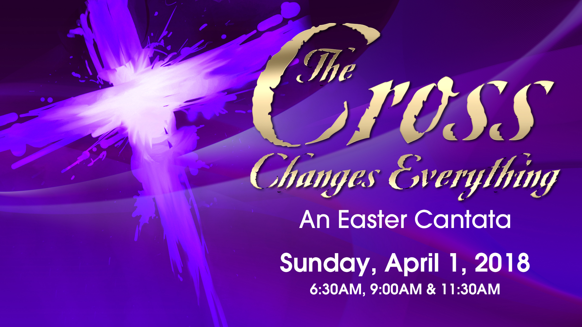 "Easter Sunday 2018 ""The Cross Changes Everything"""