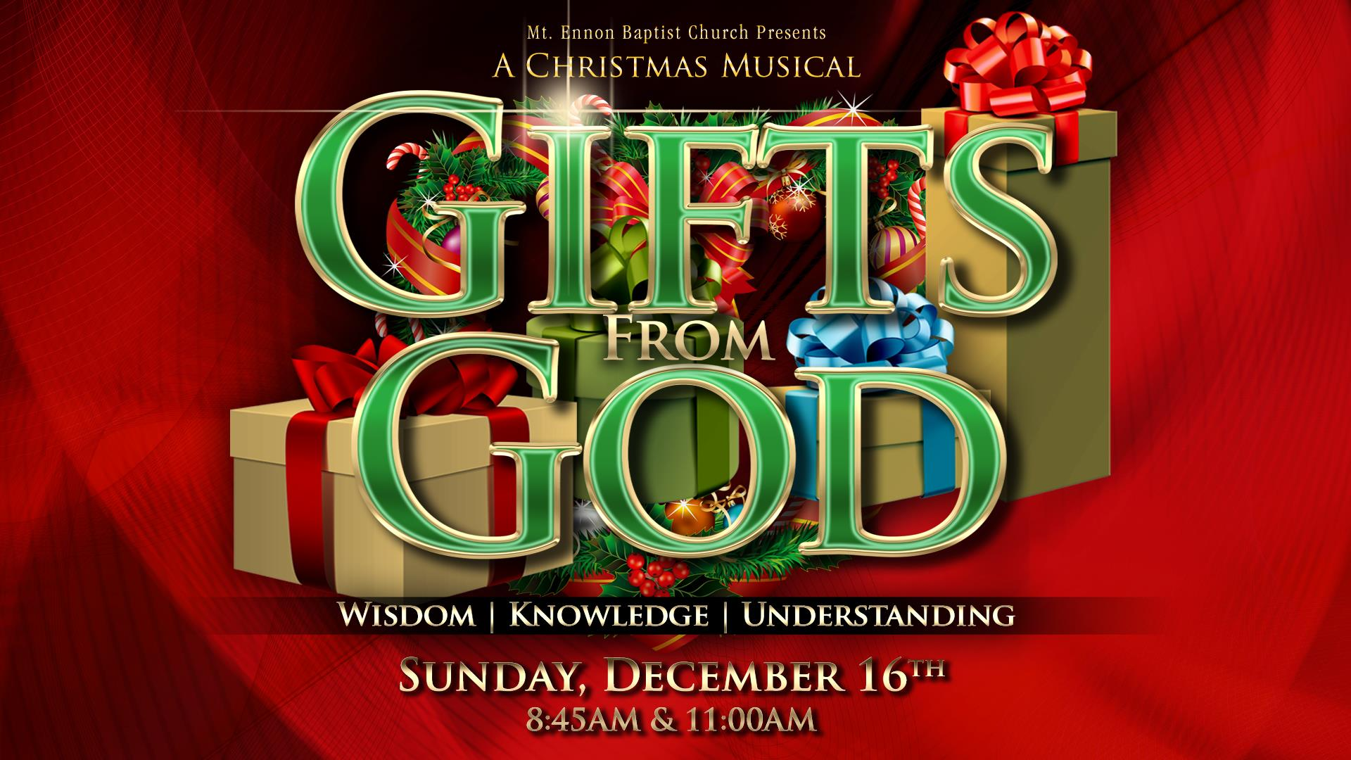 Gifts From God Christmas Musical 2018