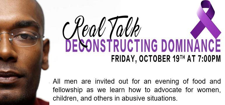Men's Deconstructing Dominance Real Talk Session
