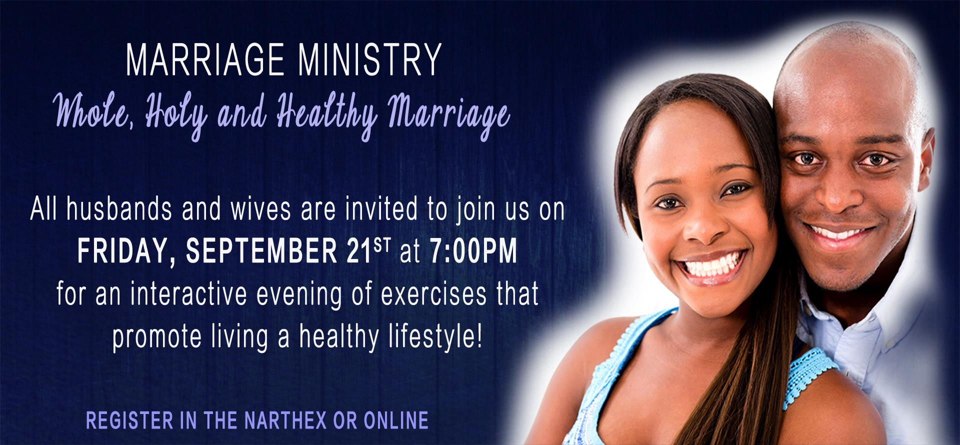 Marriage Ministry - Whole, Holy & Healthy Marriage