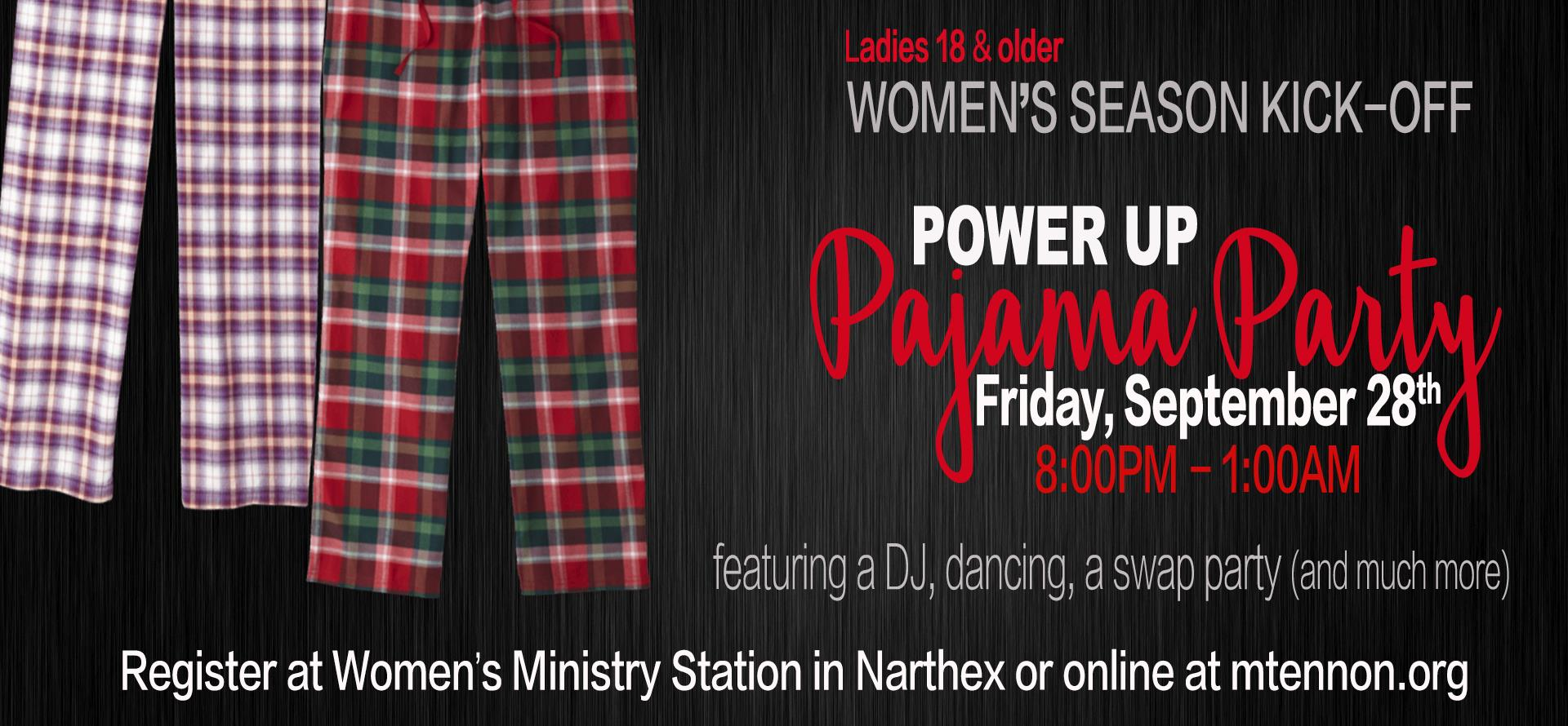 Women's Ministry PJ Party