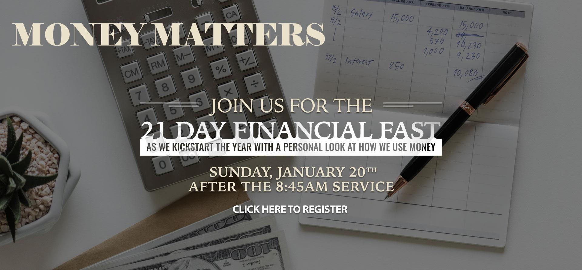 Money Matters - Jan 20