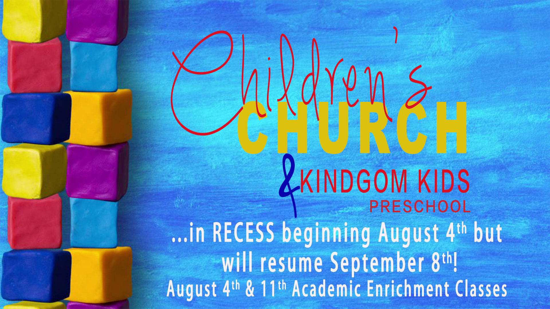 Children's Ministry Recess and Reading Enrichment
