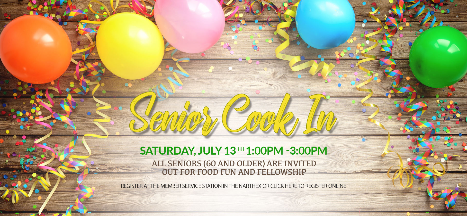 Senior Cook-in