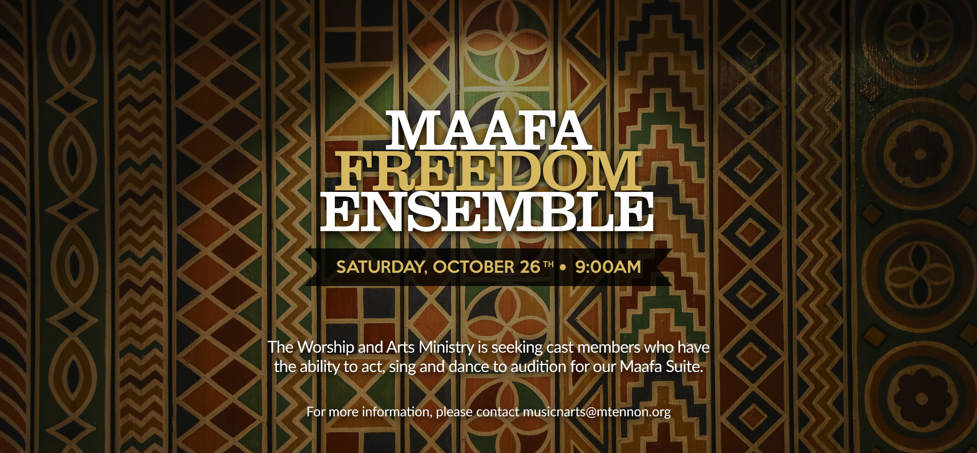 Maafa Freedom Ensemble Audition