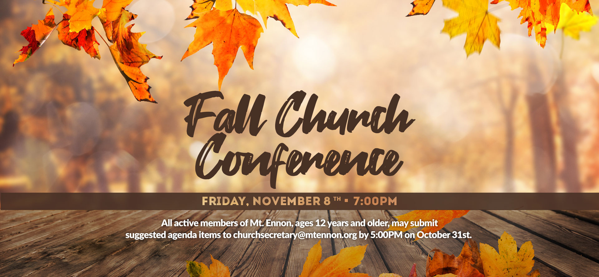Fall Church Conference