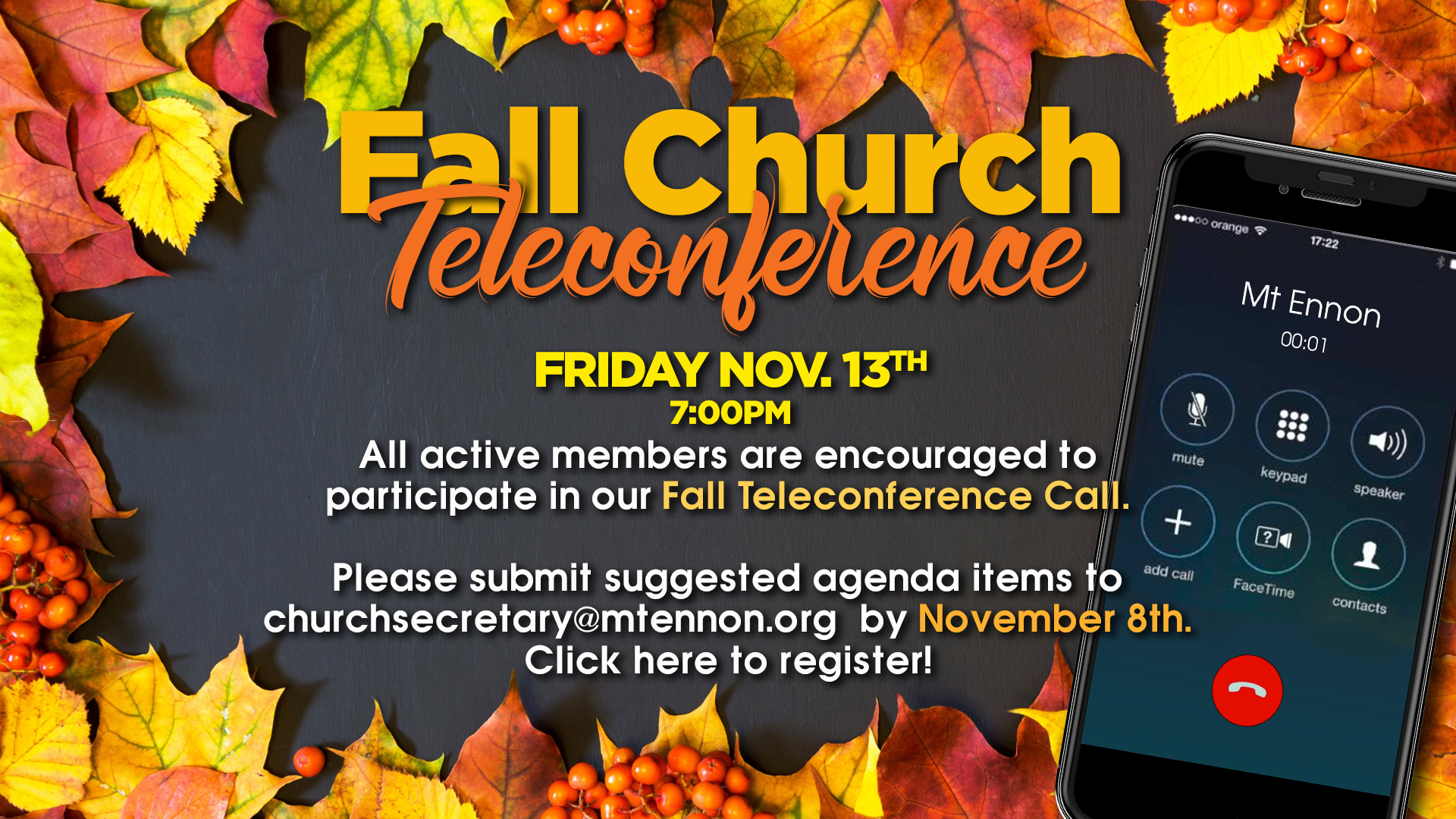 Fall Church Teleconference