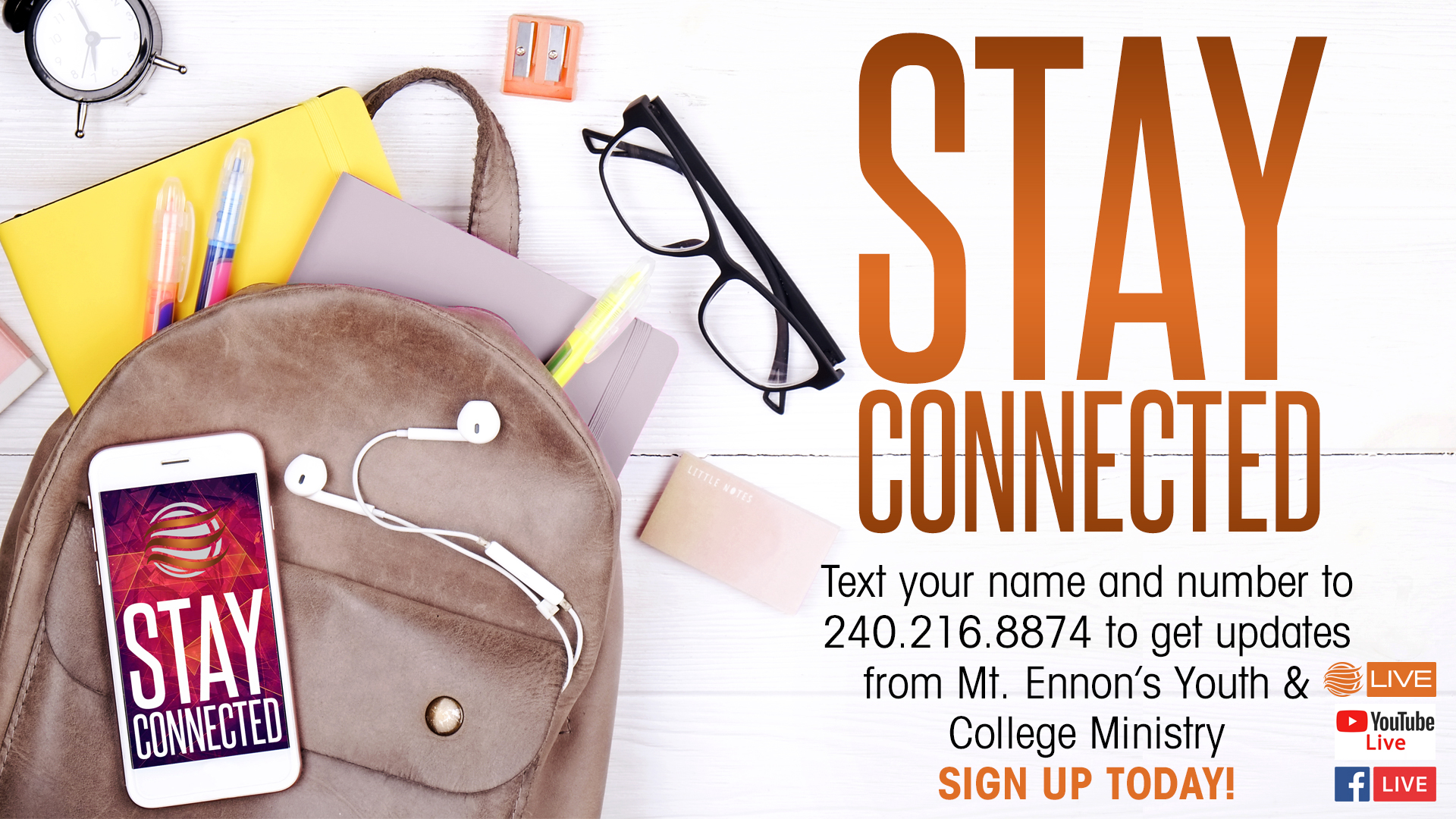 Youth & College Ministry Stay Connected