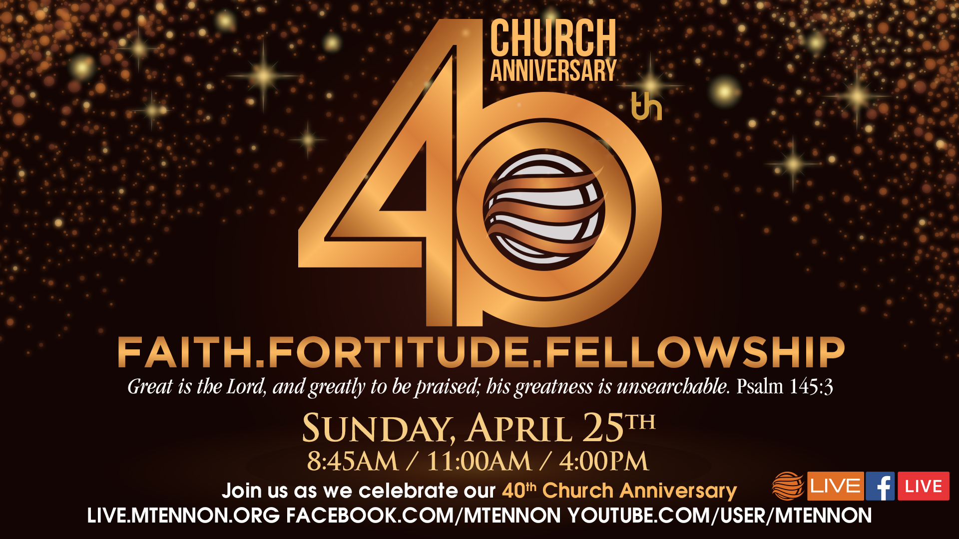 Church 40th Anniversary