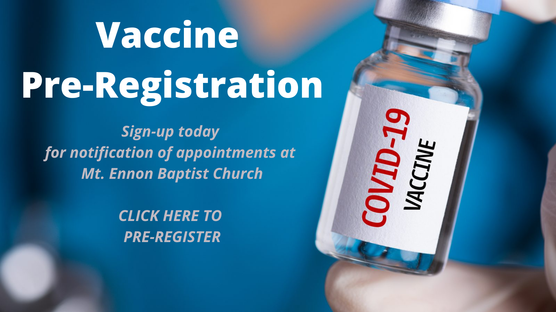 Pre-Registration for Vaccination