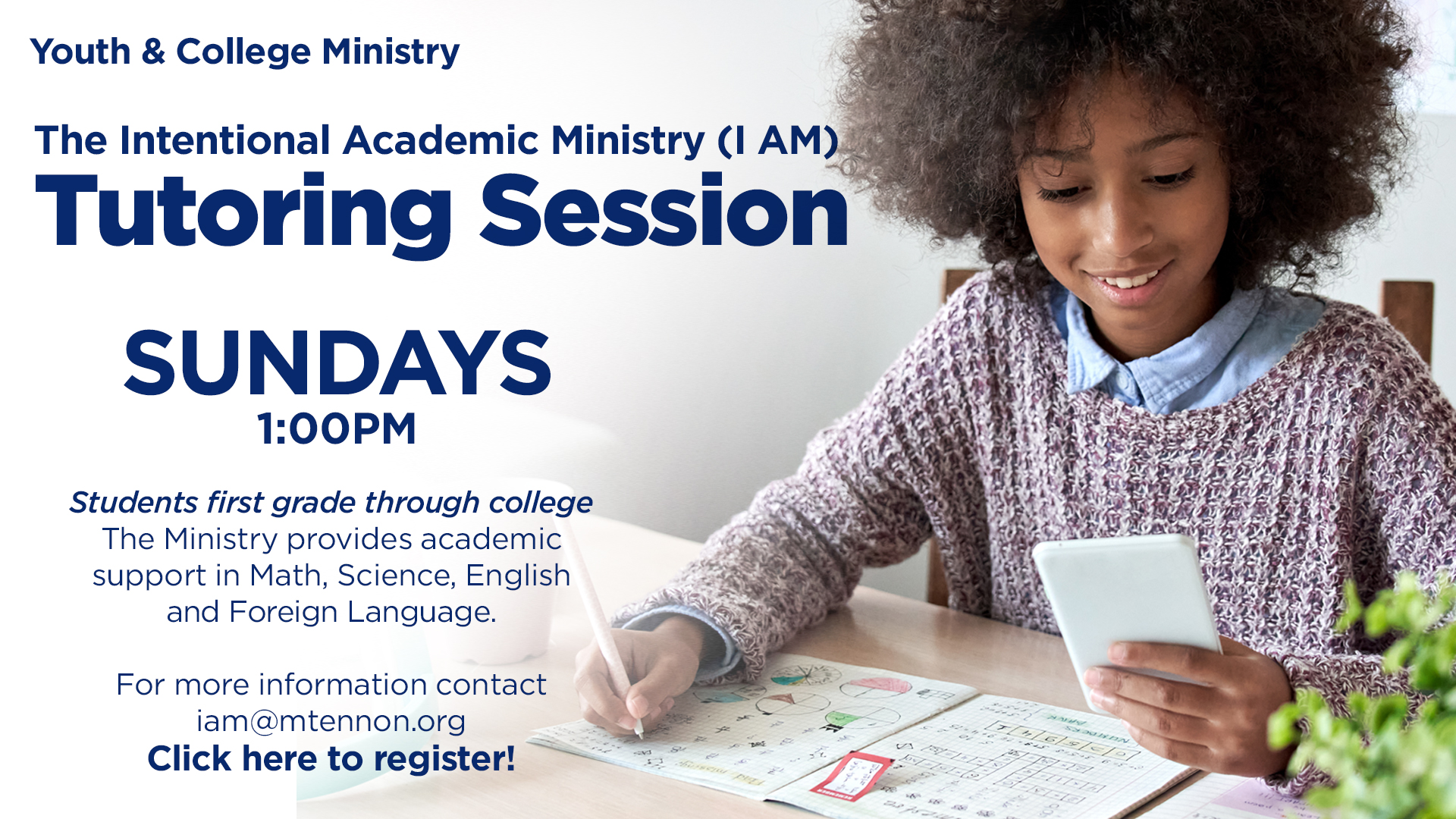 I AM Ministry - Tutoring Sessions