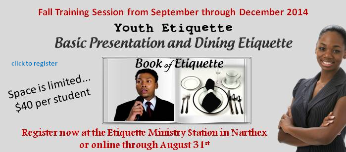 Youth Etiquette Training