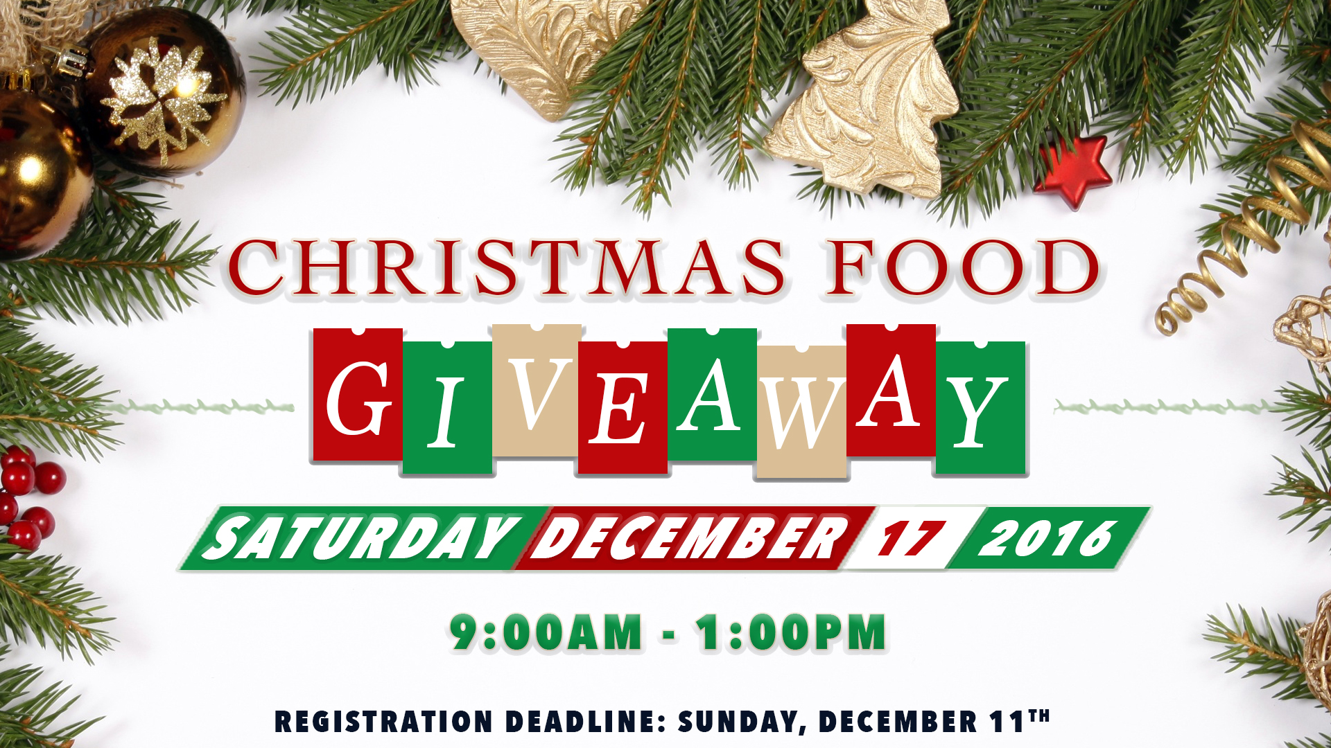 Christmas Food Giveaway