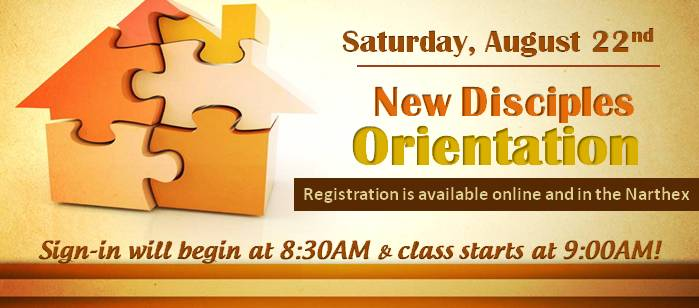New Disciples Orientation