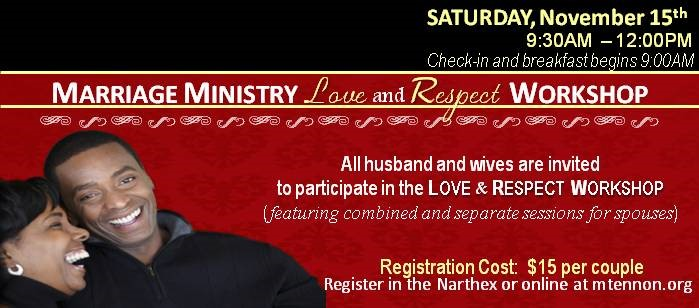 Marriage Ministry Workshop