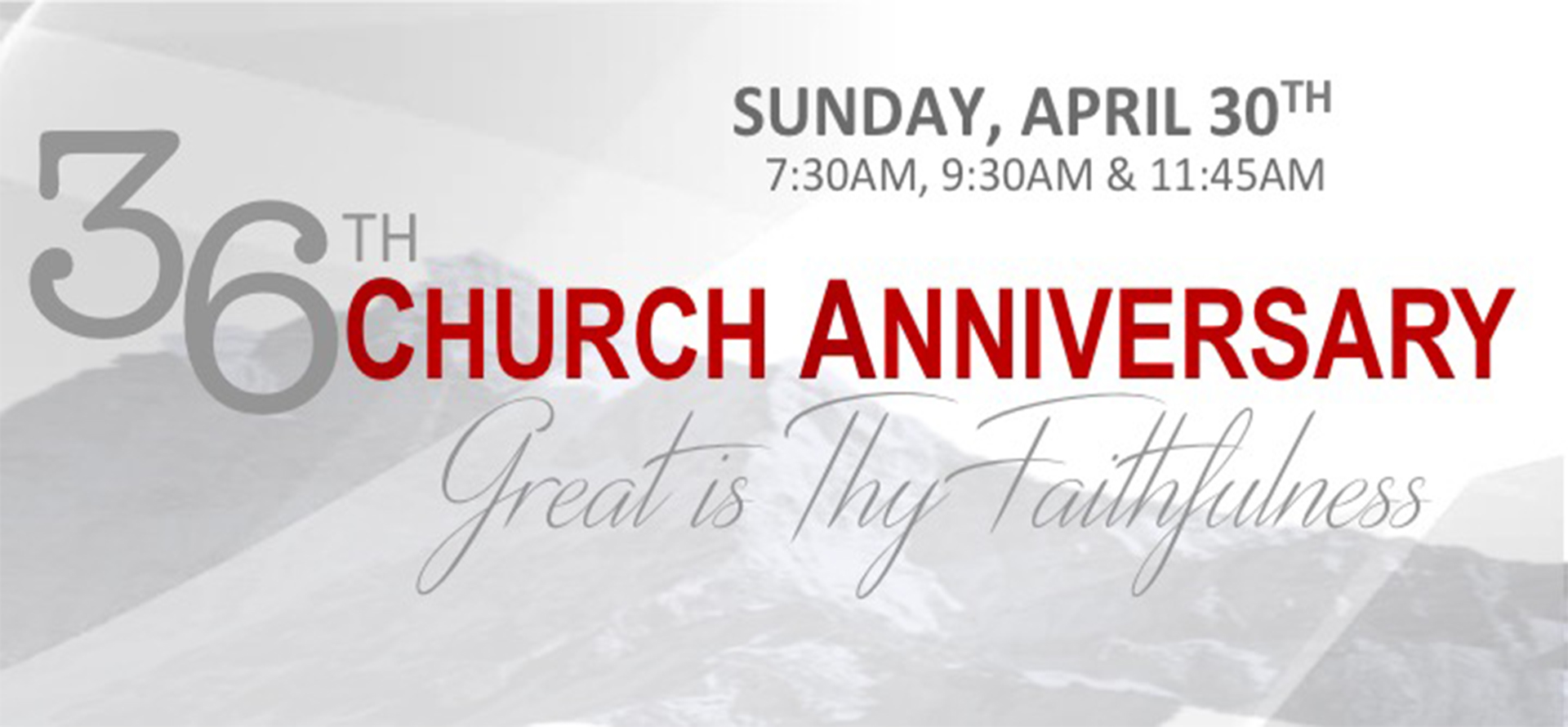Church Anniversary 2017