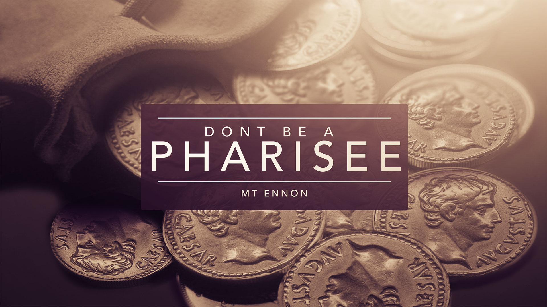 Dont be a Pharisee 4.5.2015