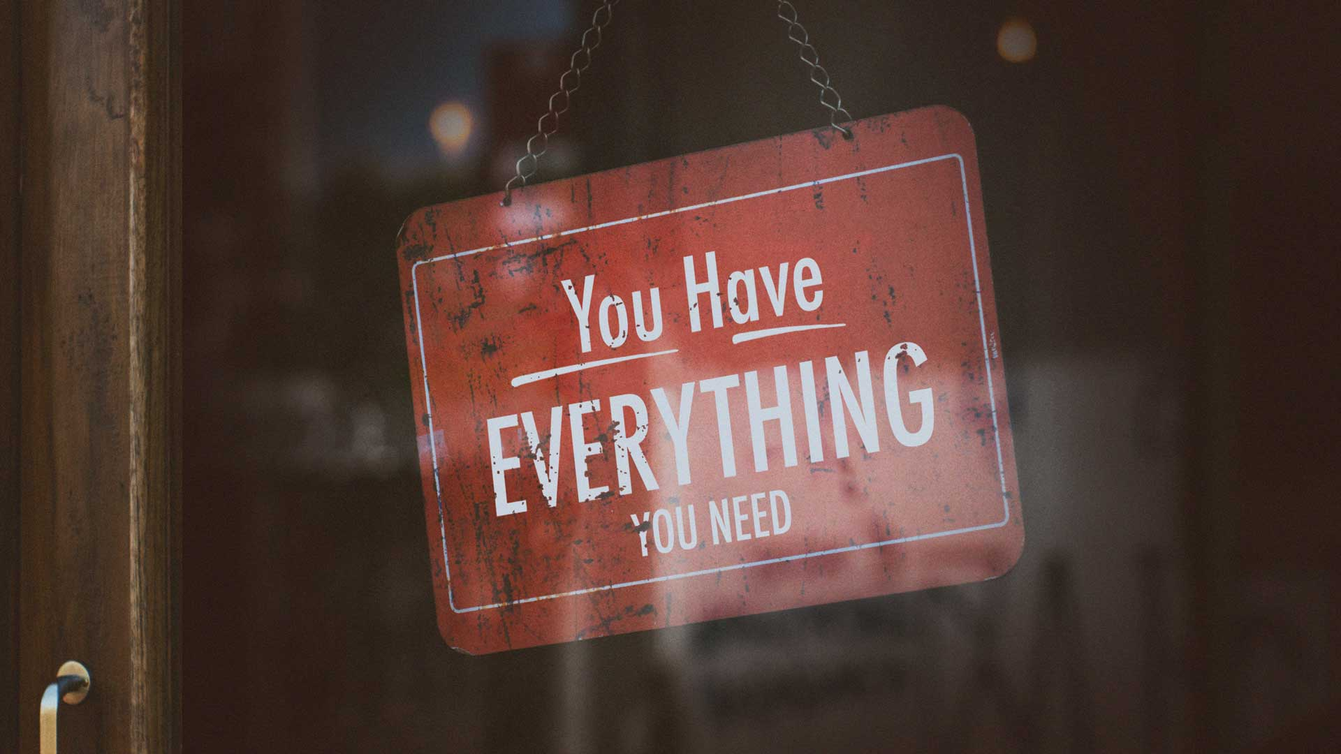 You Have Everything You Need 3.11.2018