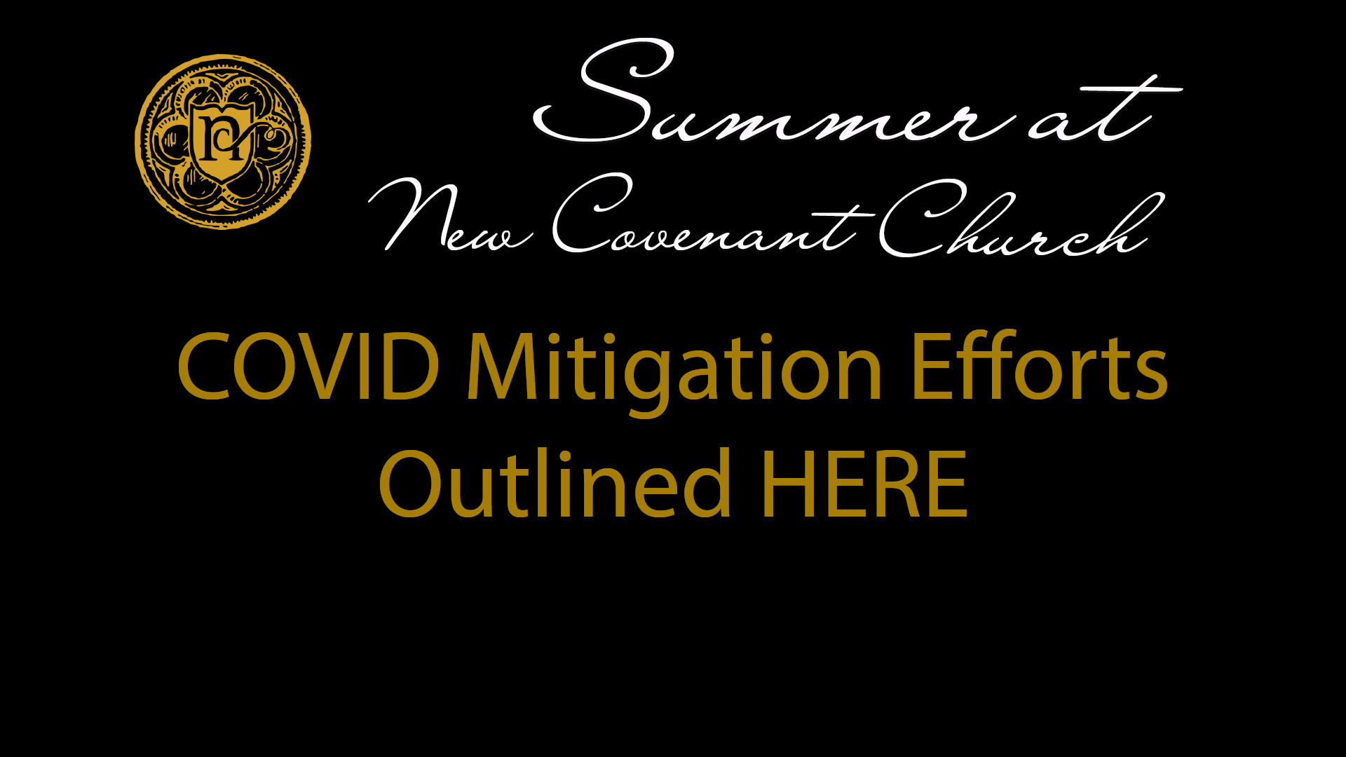 New COVID Mitigation Efforts