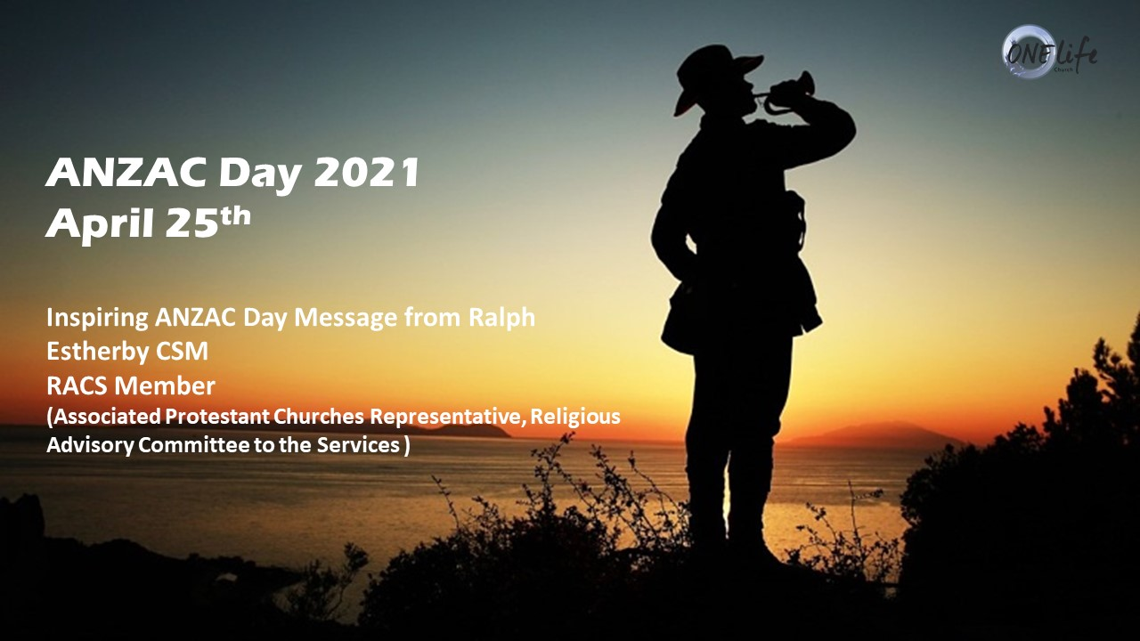 ANZAC Day Message - Pastor Ralph Estherby