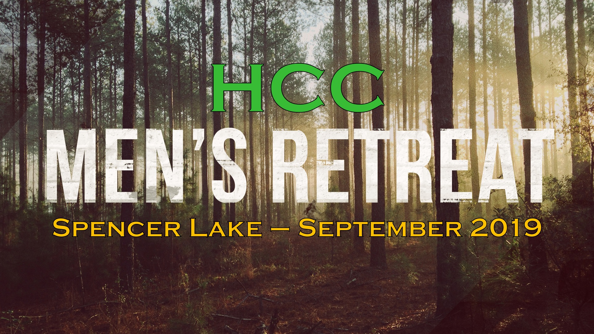 Mens Retreat 2019