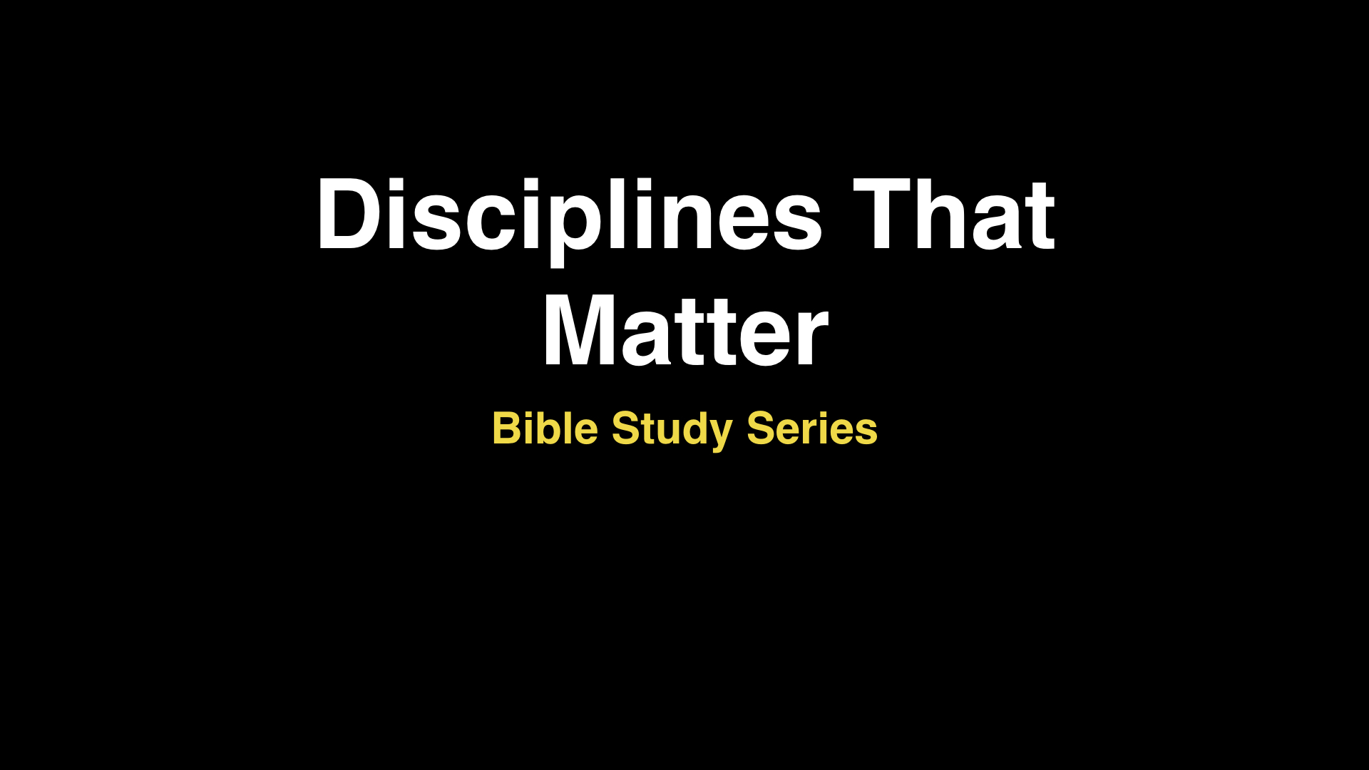 Disciplines That Matter
