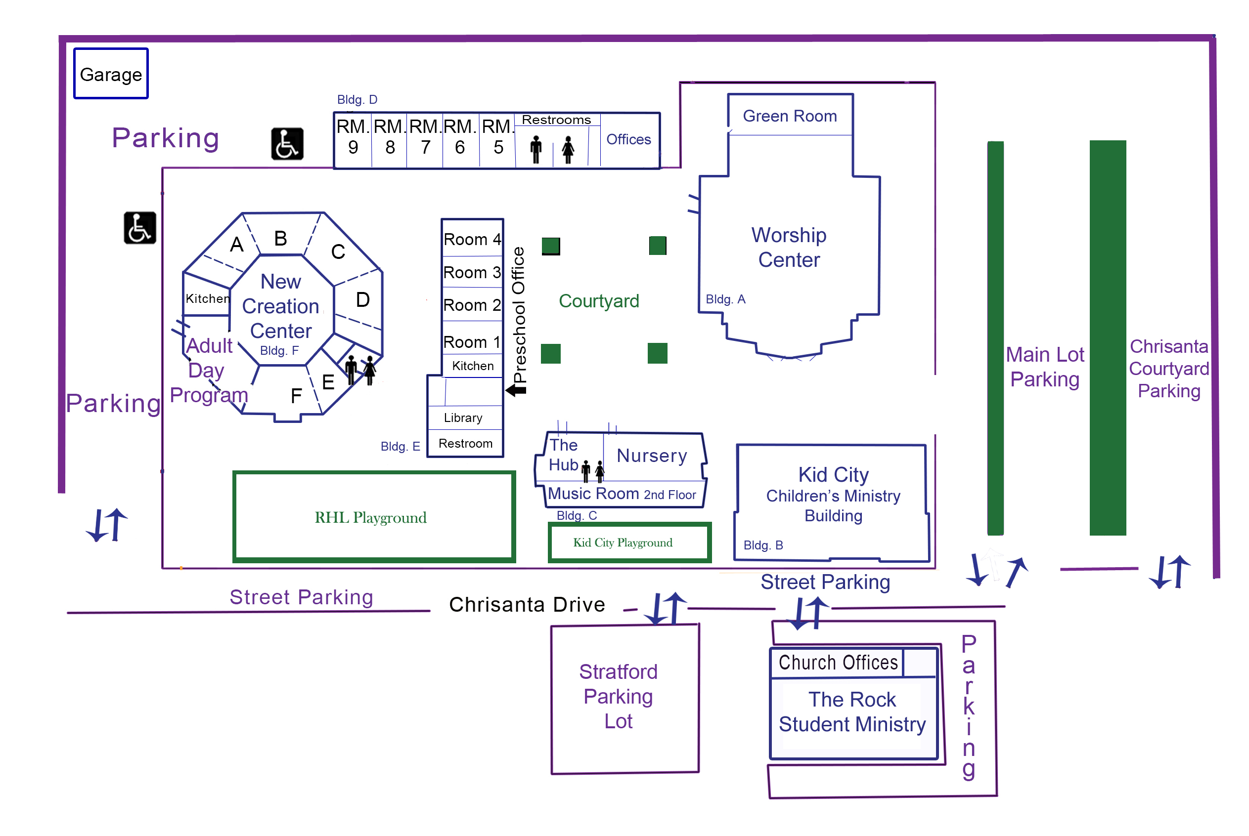Oc Campus Map.Mount Of Olives Lutheran Church The Campus Map For Mount Of Olive