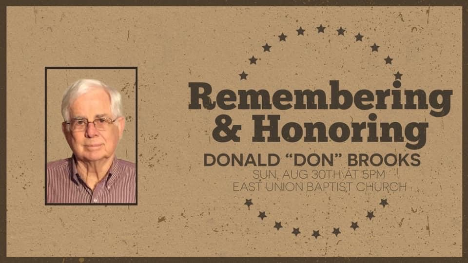 Don Brooks Memorial Service