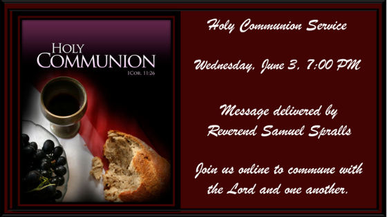 Holy Communion Service 3 June 2020